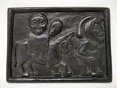 "Vintage Owen Crafts, Flight Into Egypt Wall Plaque 6"" , Made in Ireland"