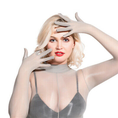 8D shiny Women Men Sexy Jumpsuits Full Bodyhose Gloves Pantyhose See through