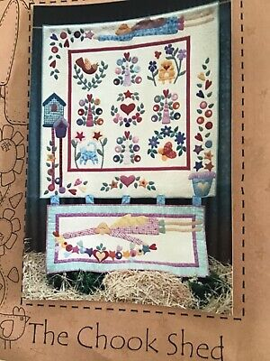 Applique wall hanging 1.38 x 1.38  PATTERN Jillys Garden by The Chook Shed