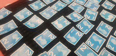 Royal Mail x454  UNFRANKED Blue 2nd class LARGE security stamps Off paper No Gum