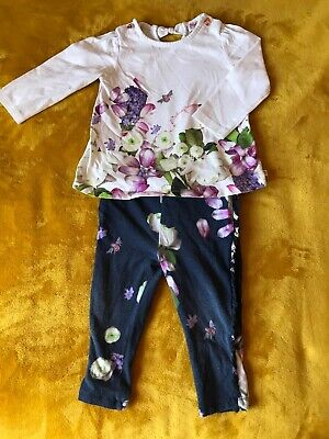 Ted Baker Girls 9-12 Months Top And Leggings Set