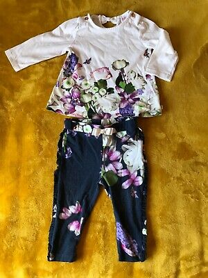 Ted Baker Girls 6-9 Months Leggings And Top Set