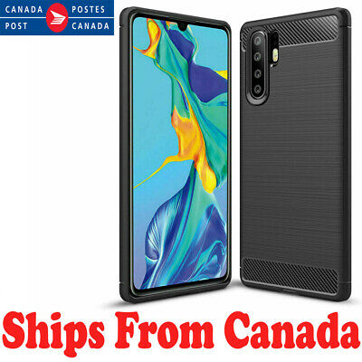 For Huawei P30 / Pro Lite Carbon Fibre TPU Armour Cover Heavy Duty Hybrid Case