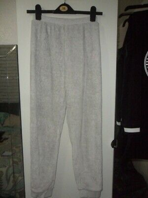 next girls age 12 years light silver grey soft fleecey trackie bottoms