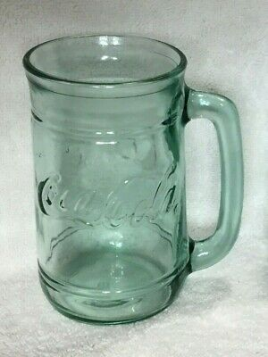 Vintage Coca-Cola 16oz Green Glass Float Mug with Handle -Quantity 1-4