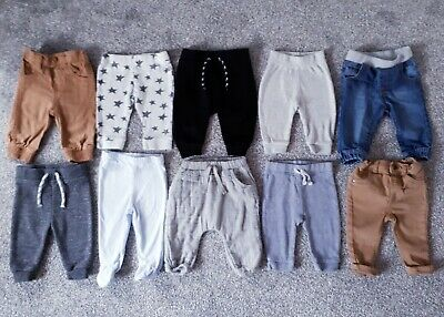 Baby Boys 3 - 6 Months Bundle Trousers Jeans Joggers Chinos Bottoms Denim