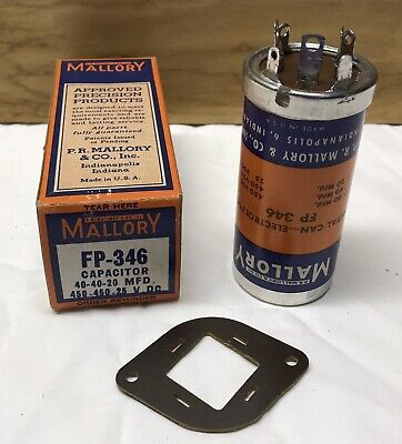 Electrolytic Capacitor Mallory Vintage New Old Stock In Box