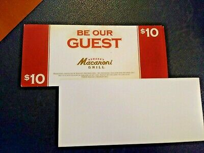 Macaroni Grill  (1) $10 BE OUR GUEST VOUCHER,  NO EXPIRATION  / FREE SHIPPING