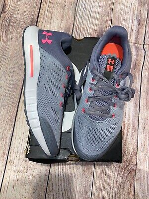 Under Armour 4.5Y Pursuit Sneakers Girls Grey Pink NEW