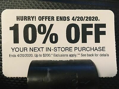 Home Depot 10% Off Coupon Save up to $200 In-Store Purchase Exp 4/20 Dewalt Ryob