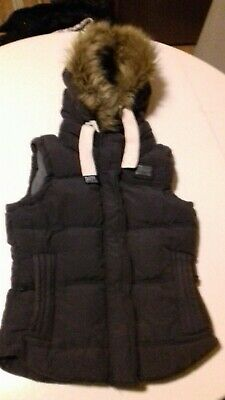 Ladies / Girls Super dry Gilet Size Small . Navy .