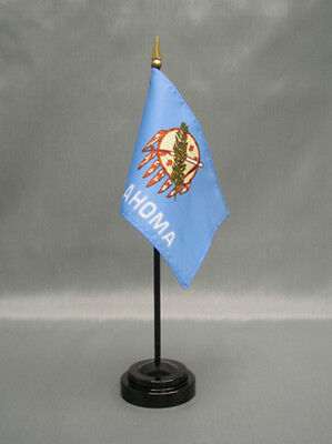 """With Black Plastic Stand State of Indiana Mini 4/""""x6/"""" Desk Stick Flag"""