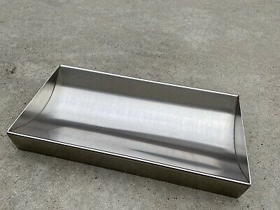 "Cash Window Money Tray 18""L x 8""W x 2 1/8 High Stainless Steel USED AS SHOWN"