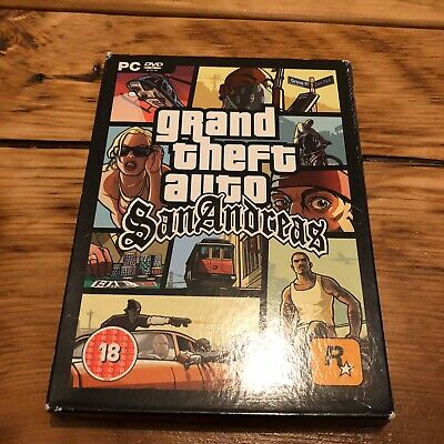 Grand Theft Auto GTA SAN ANDREAS Pc DVD Rom