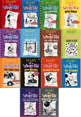 Diary Of A Wimpy Kid Collection  Set By Jeff Kinney ALL Books ALL Serie