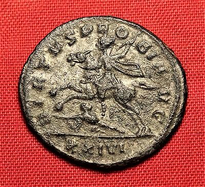 Ancient Roman Silvered Bronze Probus Antoninian Coin, Rare!