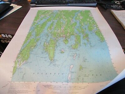 Boothbay Maine  - Topographic Map U.s. Geological Survey 1964