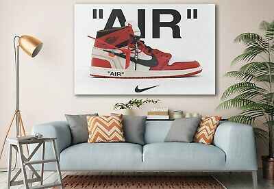 Sneakers Air Shoes Hypebeast Culture Large Poster Painting Art Wall Decor Canvas