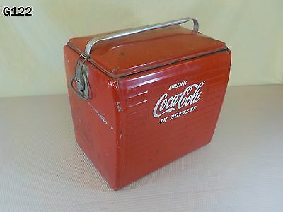 Vintage DRINK COCA COLA Metal Picnic Cooler COKE