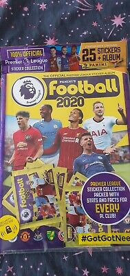Panini Football 2020 Official Premier League Starter Pack: Album + 25 Stickers
