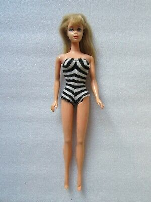 Rare Original Vintage 1966 Barbie Doll W/ The Holes On Feet Made In Japan