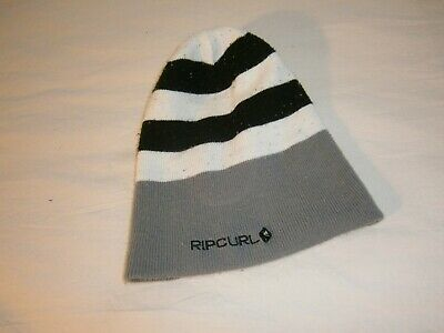 Ripcurl Grey, Black And White Boys Beanie - Great Surf Brand