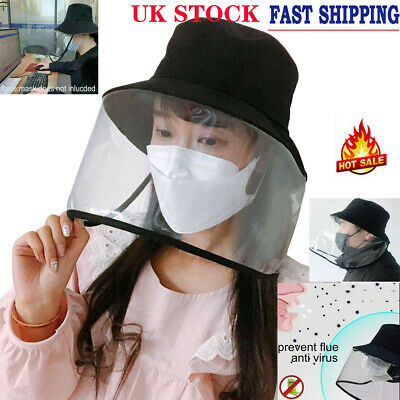 Full Face Cover Transparent Hat Splash Dust Proof Protection Anti Saliva Cap US