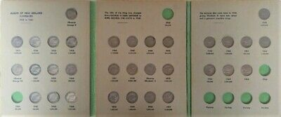 NEW ZEALAND SILVER SIXPENCE COIN DATE SET (missing 1941 and 1945)