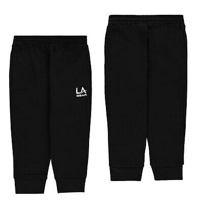 Girls LA Gear Ribbed Three Quarter Length Jogging Bottoms Sizes from 7 to 13