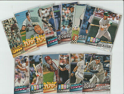 2020 Topps Series 1 BASEBALL  Decades Best  U-PICK COMPLETE Your Set