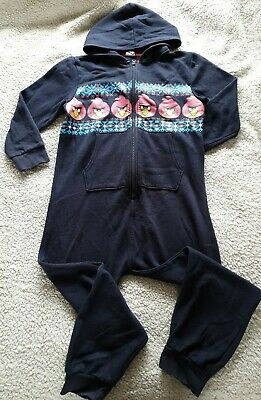 NEXT Boys ANGRY BIRDS One Piece Sleepsuit Age 10 Years