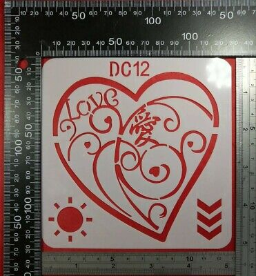 Q45 Reusable Stencil A5 A4 A3 Craft Decor The Way to Heaven is in Your Heart