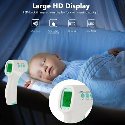 LCD Digital Non-contact IR Infrared Thermometer Forehead Body Temperature AU
