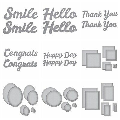 Word Letter Frame Metal Cutting Dies Stencils For DIY Scrapbooking New 2020