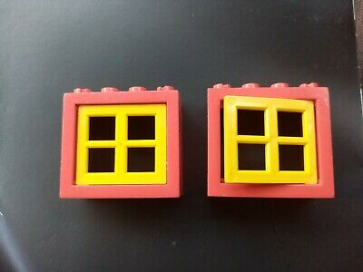 Lego Good Condition - 8 Windows in Yellow /& Red 4132 4133