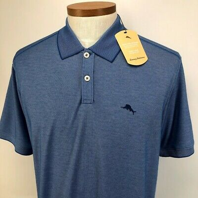 NWT Bolle Men/'s Moisture Wicking Polo Shirt Dark Light Blue Grey Select Size