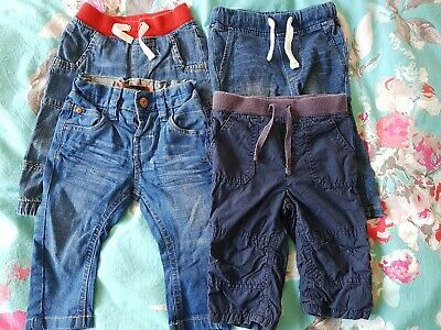 Baby Boys Bundle Jeans Jersey Cotton Trousers 3-6 Next John Lewis H&m