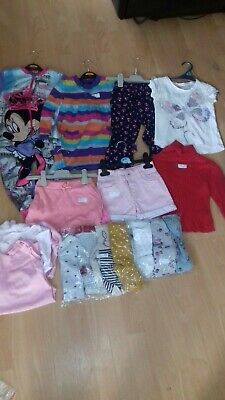 bundle girls clothes 2-3 years tops t-shirt tights shorts vests minnie mouse