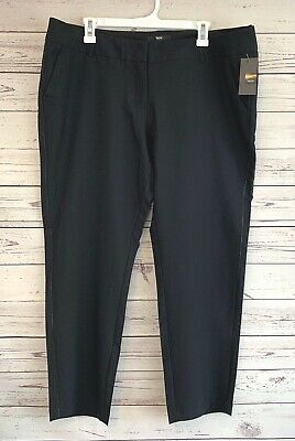 NWT Mossimo Womens Stretch Extensible Modern Dress Capri Pants Slacks Black 18
