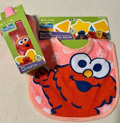 Elmo Sesame Street Sippy Cup 8oz Spill Proof BPA-Free Plastic Red Baby Toddler