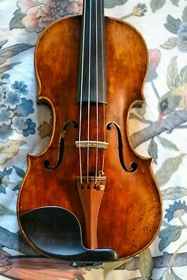"Antique 1759 Vintage Old ""Hoyer"" 1 Pc Back Full Size Violin"