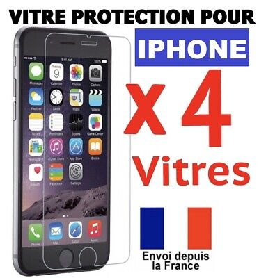 Verre Trempe Iphone Vitre Protection Ecran 11 Pro Max Se 2020 4 5 6 7 8+ Xs Xr