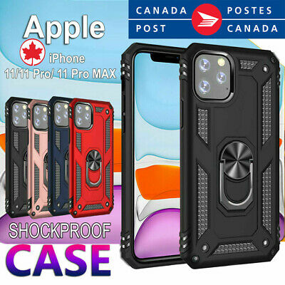 For Apple iPhone 11 Pro Max Car Mount Magnetic Case Shockproof Heavy Duty Cover