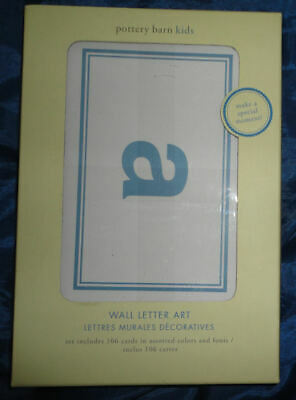POTTERY BARN KIDS Wall Letter Art, Boy's Room, Assorted Colors, Fonts NEW in Box