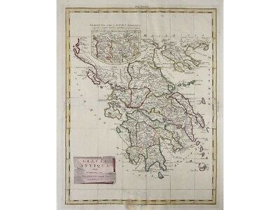 Ancient Greece Antique Map Graecia Antiqua Zatta 1785