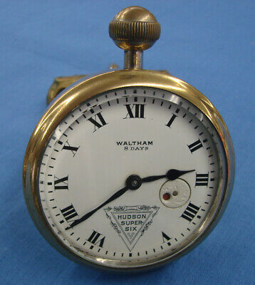 *Hudson Super Six Waltham 8 Day Dash Mounted Clock - Beautiful Condition*