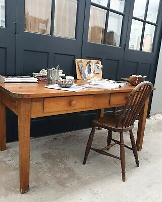 SALE - Pine Rustic Table Desk Kitchen Drawers DELIVERY AVAILABLE