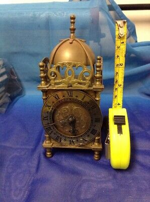 Vintage Smiths Wind-up Brass Carriage Clock with Key