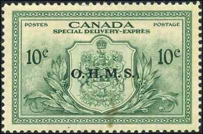 Canada #EO1 mint VF OG NH 1950 Special Delivery 10c green OHMS Overprint