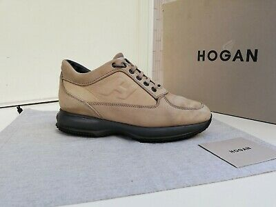 Scarpe Hogan N.39 (5) ORIGINALI Uomo Interactive Shoes Men Size Beige madein Ita